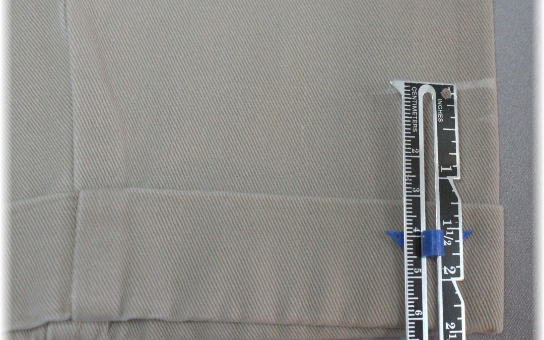 Sewing Tutorial: Hemming Pants with Cuffs