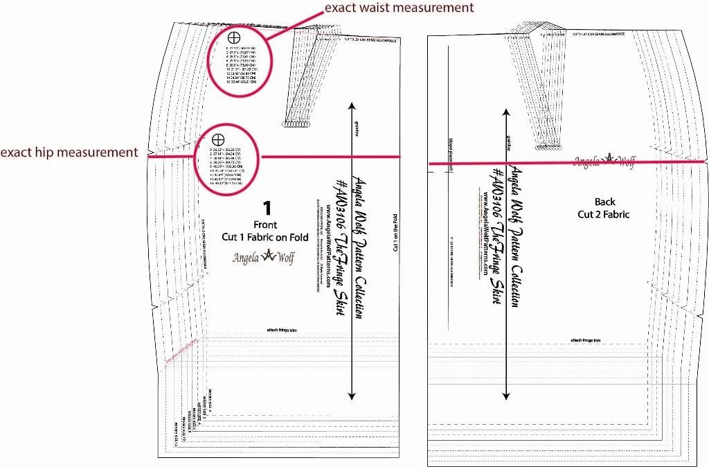 Fringe Skirt Sewalong Part 2: Fitting & Altering Skirt Patterns