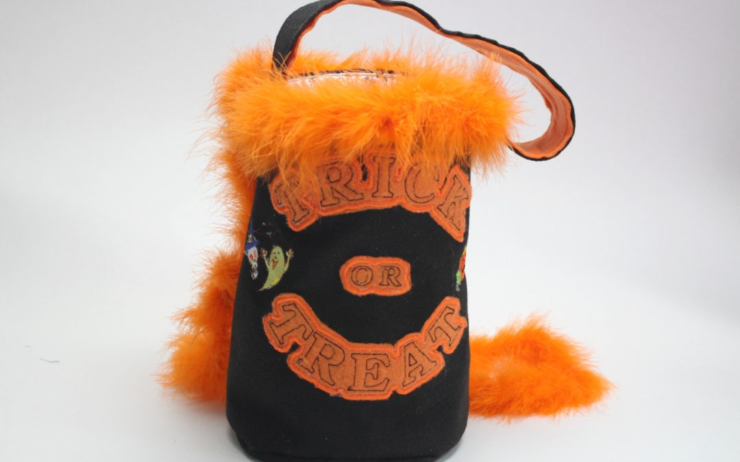DIY Halloween Embroidered Trick or Treat Bag