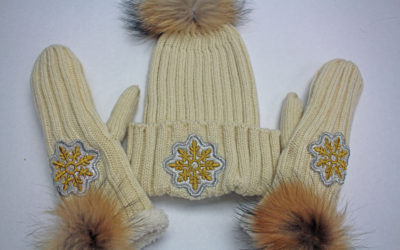 DIY PROJECT: EMBROIDERY & APPLIQUE HAT & MITTENS
