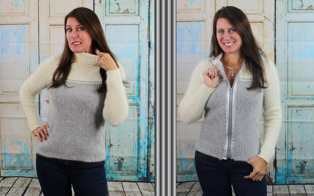 DIY: REFASHION A SWEATER INTO A SWEATER JACKET