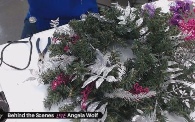 Behind the Scenes VLOG 113 Crafting LIVE Learn how to make a Christmas and Holiday wreath decoration Ready to cut up my pink turtleneck, check out my fabric choice And a few new fabric finds …
