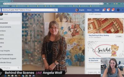 Vlog 119 Behind the Scenes LIVE with Angela Wolf Showing off the fabulous outfits made by the Wolf Pack Katie will be joining us to draw a winner to Sewing & Stitchery Expo in Puyallup @sewexpo An…