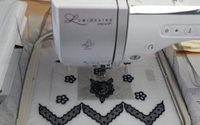 Embroider Lace on Tulle Fabric Tutorial