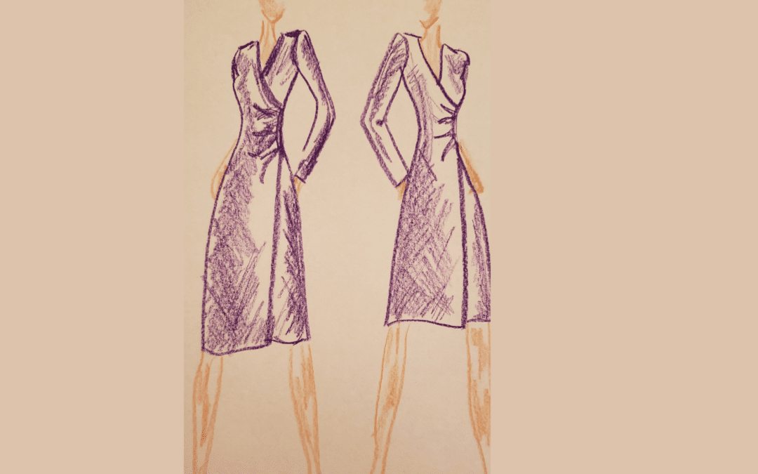 The Shirley Faux Wrap Top & Dress Sewing Pattern