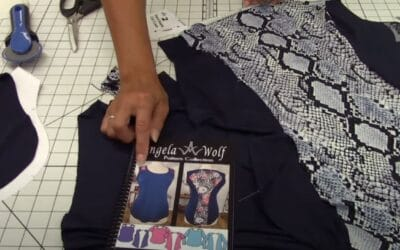 VLOG 238 Behind the Scenes ✂️ LIVE in Angela Wolf's Studio & Sewing the Lacy Top